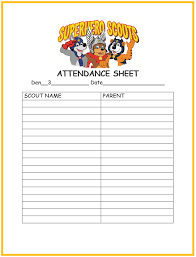 Boy Scout Medical Form Mesmerizing Cub Scout Attendance Sheet Printable Cub Scouts Pinterest Cub
