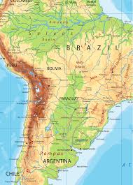 South America Detailed Physical Map