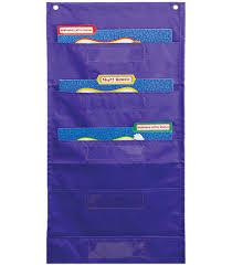 File Folder Storage Purple Pocket Chart By Carson Dellosa