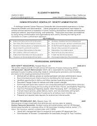 Hr Generalist Resume Objective Examples Statements Professional
