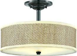 24 flush mount drum light semi lights antique nickle shade fixture flush mount drum light