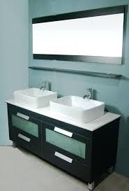 55 inch double sink bathroom vanity top modern double vessel sinks vanity set modern double vessel