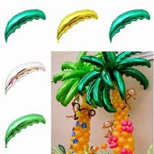 36inch length tropical palm tree leaf hawaiian dark green beach aluminum foil balloon venue decor party supplies party centerpieces party chandelier