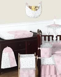 pink nursery bedding sets erfly pink grey ruffle damask couture baby girls fancy crib bedding set pink nursery