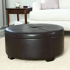 storage ottoman coffee table round upholstered leather with four ottomans small seagrass pottery barn coffee table trunk round seagrass