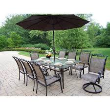 great escape patio dining sets. oakland living cascade patio dining set with umbrella and stand - great escape sets