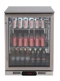 138 litre glass door beverage cooler stainless steel