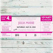 Concert Ticket Invitations Template Stunning Printable Concert Ticket Birthday Invitation Digital File Etsy