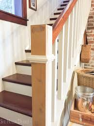 Build Newel Post Farmhouse Newel Post Makeover She Holds Dearly