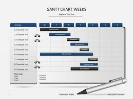 power point gant chart powerpoint slide templates gantt chart weeks