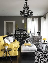 Black White Yellow Living Room Ideas Beauteous And