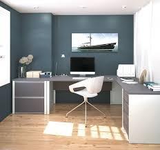modern slate sandstone single pedestal l shaped desk with included lateral file