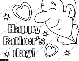 Small Picture Happy Fathers Day Day with Hearts and Stars Coloring Pages for