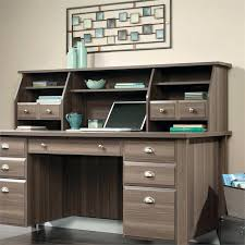 sauder executive desk shoal creek executive desk with hutch in diamond ash