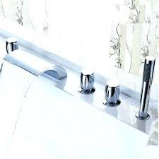 what is a roman tub faucet deck mounted waterfall bathroom hand shower sprayer moen replacement ele