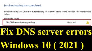 DNS server not responding fix windows 10 (2021)