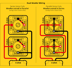 subwoofer speaker amp wiring diagrams kicker® check the amplifier s owners manual for minimum impedance the amplifier will handle before hooking up the speakers remember 4 ohm mono is equivalent to 2