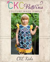 Ckc Patterns Extraordinary Moxie's Flutter Dress PDF Pattern
