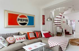 Quirky Bedroom Accessories House In Ravenscourt With Red And White Theme Idesignarch