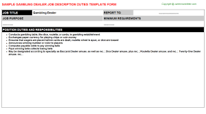 Casino Dealer Job Templates