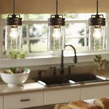 creative allen roth 12 in w mission bro e pendant light with clear shade allen roth