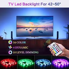Bason Led Strip Lights For 42 50 Hdtv Wall Mount Tv Usb
