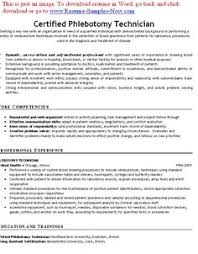 Phlebotomist Resume Sample Plus Downloadable Template Stand Out