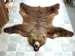 real bear skin rug faux bear skin rug with head real bear skin rugs moose r