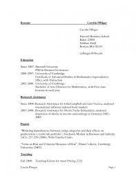 Harvard Resume Format Sevte
