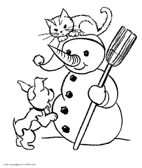 Dog And Cat Coloring Pages Dogs