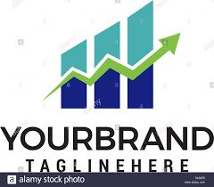 Growth Logo Design Financial Arrow Growth Logo Design Concept Template Vector