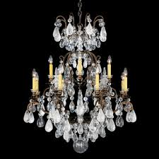 renaissance rock 12 light crystal chandelier finish heirloom gold crystal color combination of amethyst and black diamond