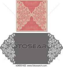 Invitation Envelope Template Laser Cut Envelope Template Clipart K36937422 Fotosearch