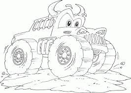 Small Picture Bull Monster Truck Coloring Page Bebo Pandco