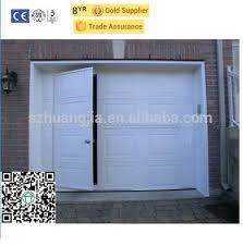 sz factory direct supply insulated automatic sectional folding garage door with infrared sensor pedestrian p