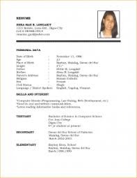 examples of a simple resume examples of simple resumes musiccityspiritsandcocktail com
