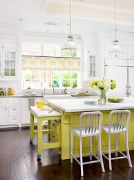 painted kitchen islandsBeautifully Colorful Painted Kitchen Cabinets