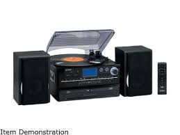 jensen jta 980 3 sd stereo turntable 2 cd system with cassette and am