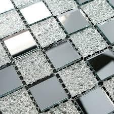 mirrored silver mosaic tile mesh mounted silver mirror glass tile kitchen backspalsh bathroom wall tiles mirror tiles ideas