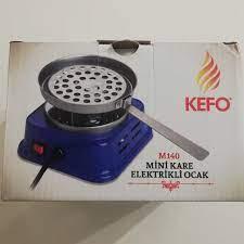 Kefo Mini Kare Elektrikli Köz Ocak - 724 Nargile 7/24 Nargile Nargile  Takımı Nargile Tütünü Nargile Malzemesi Nargile Kömürü