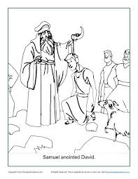 Small Picture Samuel Anointed David Coloring Page Childrens Bible Activities