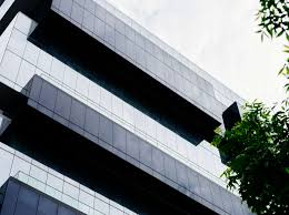 glass exterior modern office. Architectural Design, Architecture, Building, City, Cloudy, Construction, Contemporary, Exterior, Facade, Geometric, Glass, Glass Panels, Lines, Looking Up, Exterior Modern Office M