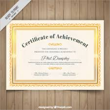 Certificate Template Photoshop Certificate Of Excellence Template Psd Download Certificate Template