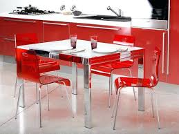 dining table and 6 red leather chairs. full image for modern red chairs and glass dining tables table 6 leather t