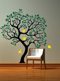 vinyl wall decal tree with birds wall