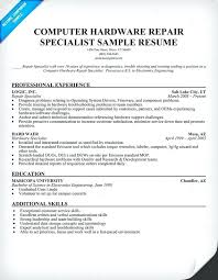 Hardware Skills In Resume Resume Format For Hardware And Networking