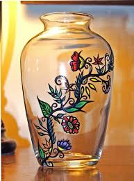vases 49 best glass painting images on hand painted glass for glass