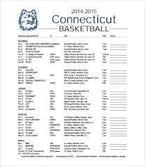 Basketball Calendar Template Sports Schedule Maker Excel Weekly