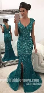 <b>Luxurious Heavy Beaded</b> Sparkle Side Split <b>Mermaid</b> Evening Long ...