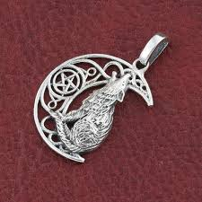 sterling silver howling wolf pendant without chain 4 4 g